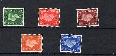 GEORGE VI 1937 dark colour SIDEWAY SG462a-466a COMPLETE SET MM ^^ **