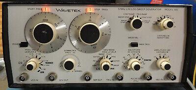 Wavetek Model 185 5mhz Sweep Function Generator Nice Tested Working