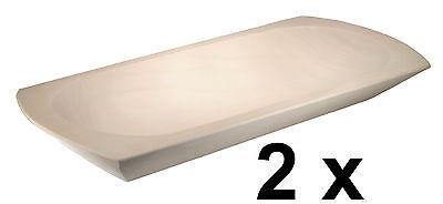 2 x Schlachtemolle Holzmolle Mulle Molle Schale aus Espenholz L 45 cm x B 21 cm