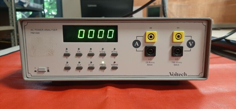 Voltech PM1000 AC Power Analyzer Selling as is