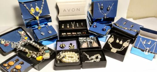 Avon Lot Vintage & New Jewelry 16 boxes -Necklaces, Earrings,and More