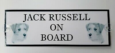 Jack Russell Terrier On Board Car Sign