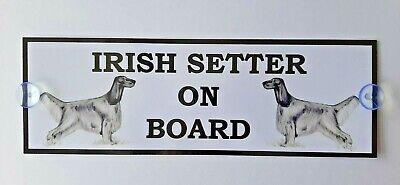Irish Setter On Board Car Sign (B)