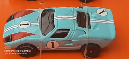 NEW Auto World #1 Baby Blue Ford GT40 Thunderjet HO Slot Set Car Only Sold Out