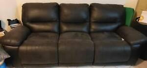 3-seat home theatre sofa / couch / lounge - DARK