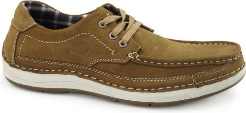 0a727fcffbcb Chatham RUBBLE Mens Soft Nubuck Smart Casual Lace Up Padded Shoes Tan фото