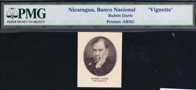 13-00814 # NICARAGUA | VIGNETTE, RUBEN DARIO, 500 CORBODOS, 1945, PMG UNC