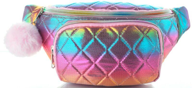 Waist Bag for Girls Fanny Pack Belt Shoulder Travel Bag Modern Holographic