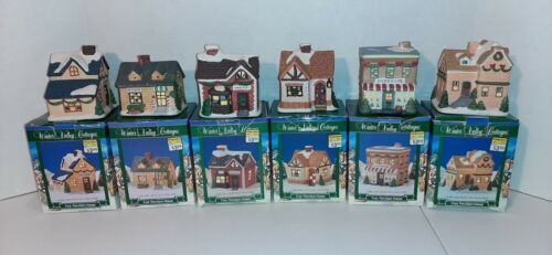 Lot of 6 With Original Boxes Winter Valley Cottages Christmas Villages Houses