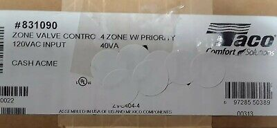 Taco Zvc404-4 Zone Valve Control 4 Zone