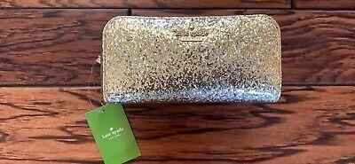 Kate Spade Ezra Gold Glitter Bug Cosmetic Case Makeup Bag New Jewelry New NWT