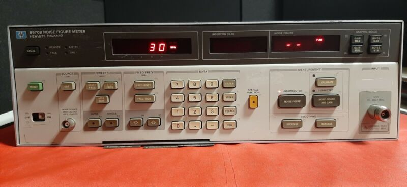 HP 8970B Noise Figure Meter Tested and Working Good, Broken Power Button, As-Is