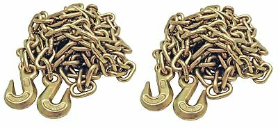 2 Pack 38 20 G70 Tow Chain Tie Down Binder Flatbed Truck W Hooks Grade 70