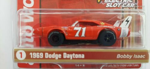NEW Auto World Stock Car Legends Bobby Isaac 69 Dodge Daytona Runs on Tomy AFX