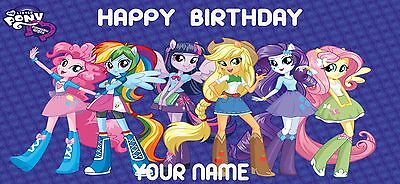 Birthday banner Personalized 4ft x 2 ft My Little Pony Equestria Girls