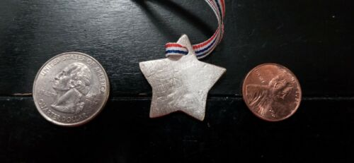 Handcrafted Pure Silver Star pendant. From estate sale