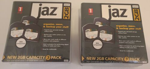 NEW Iomega jaz Disks, 6 disks, 2GB each