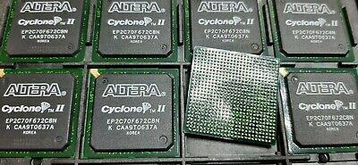 1x Altera Ep2c70f672c8 Ic Fpga Cyclone Ii 70 Speed 422 Io Fbga-672