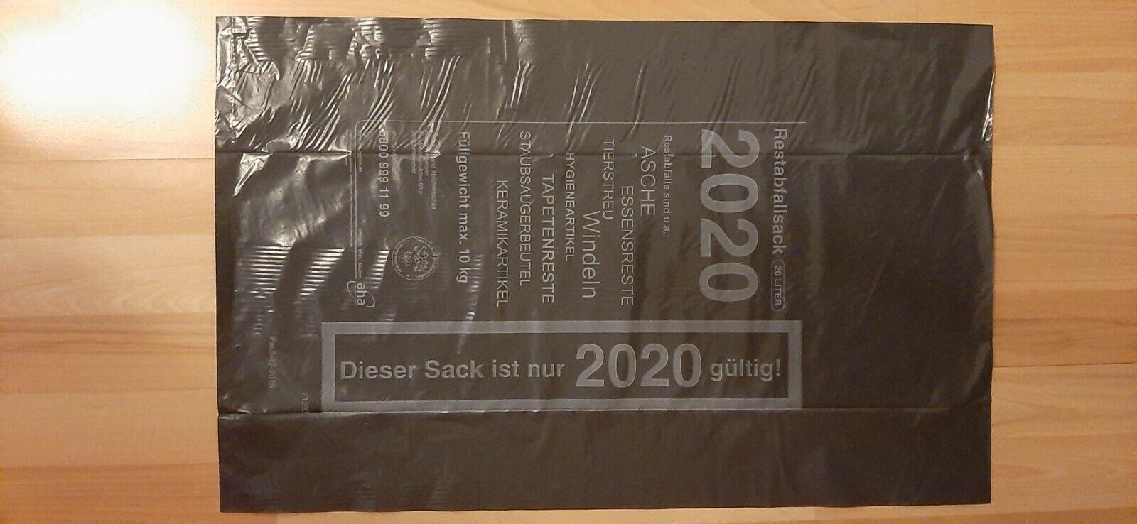 5 x 20 l AHA-RESTMÜLLSÄCKE 2020, Abfallsäcke, Restmüllsäcke, Region Hannover