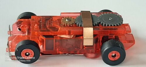 1 Autoworld Ultra G Short Red Translucent Tjet HO Slot Car Chassis Run on Aurora