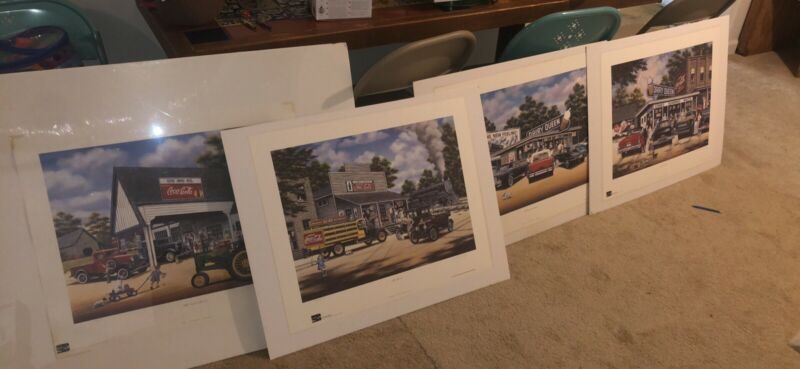 Pamela Renfroe Signed Coca Cola Print Collection Local Pick Up Georgia