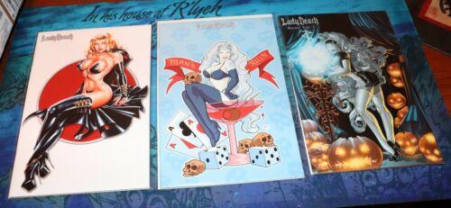 Lady Death Premium Comic Lot - Last Rites - Tribulation Tattoo - Mischief Night