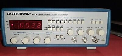 Bk Precision 4017a 10 Mhz 5 Digit Display Sweep Function Generator Tested Good
