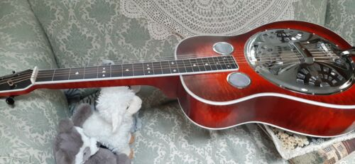 Fairchild Red Quilted Maple Custom Made Dobro