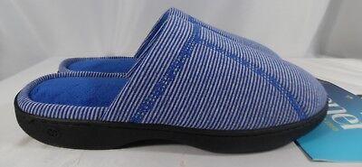 Isotoner Women's Clog Slippers Blue Striped (8.5-9B) (9.5-10B) Memory Foam