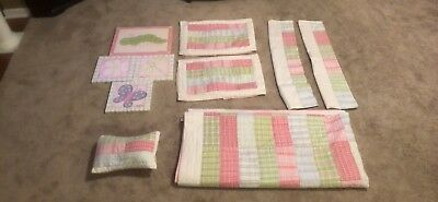 Pottery Barn Girl's Patchwork Queen Bedding Set - 13 Piece Set - EUC -No Reserve