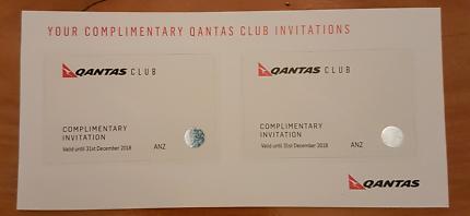 2 x Qantas Club lounge passes (Dec 2018 exp)