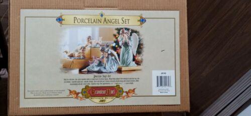 Grandeur Noel Christmas Collector's Edition 2003 Porcelain 4-Piece Angel Set NEW