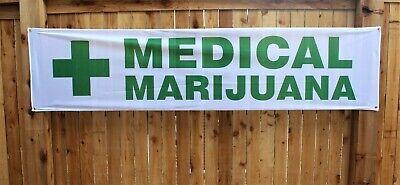 Medical Marijuana Banner Sign Cannabis Dispensary 2x8 Outdoor Vinyl Green Cross