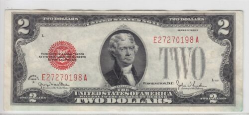 1928G $2 Legal Tender Note Red Seal FR#1508 E27270198A
