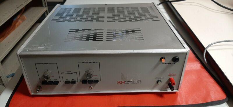 krohn - hite 7500 selling as is no returns