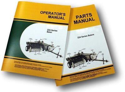 Operators Parts Manuals John Deere 224 224t 224ws Baler Service Timing Knotter