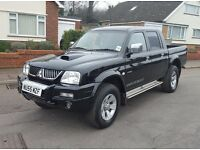 Low Mileage Top Spec 55 reg Mitsubishi L200 2.5TD Warrior, Leather P/X, Finance,Credit cards Welcome