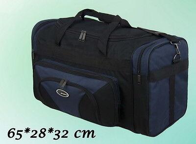 Herren Tasche Reisetasche Sporttasche Schwarz Blau 65 * 28 * 32 cm NEU