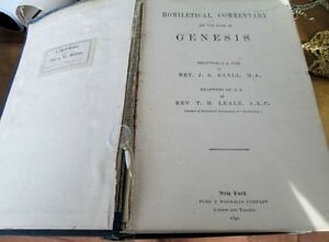 The Preacher's Homiletical Commentary, Genesis, 1892 -REDUCED Kitchener / Waterloo Kitchener Area image 2