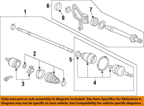 FOR HONDA ACCORD CR-V FR-V 2.2 CTDi DTEC FRONT INNER RIGHT CV JOINT BOOT KIT