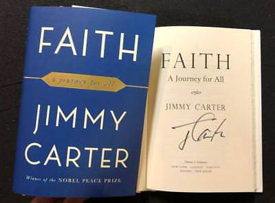 President Jimmy Carter Signed Book Faith  A Journey For All 1St Printing Potus