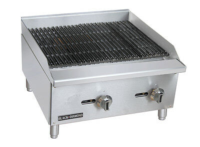 Black Diamond Commercial Restaurant 24 Gas Char-broiler 60000 Btu Bdectc-24ng