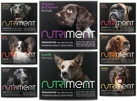 15 Boxes Nutriment Raw Frozen Dog Food (Different Proteins)
