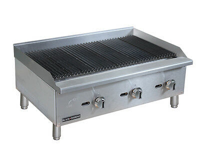Black Diamond Commercial Restaurant 36 Gas Char-broiler 90000 Btu Bdectc-36ng