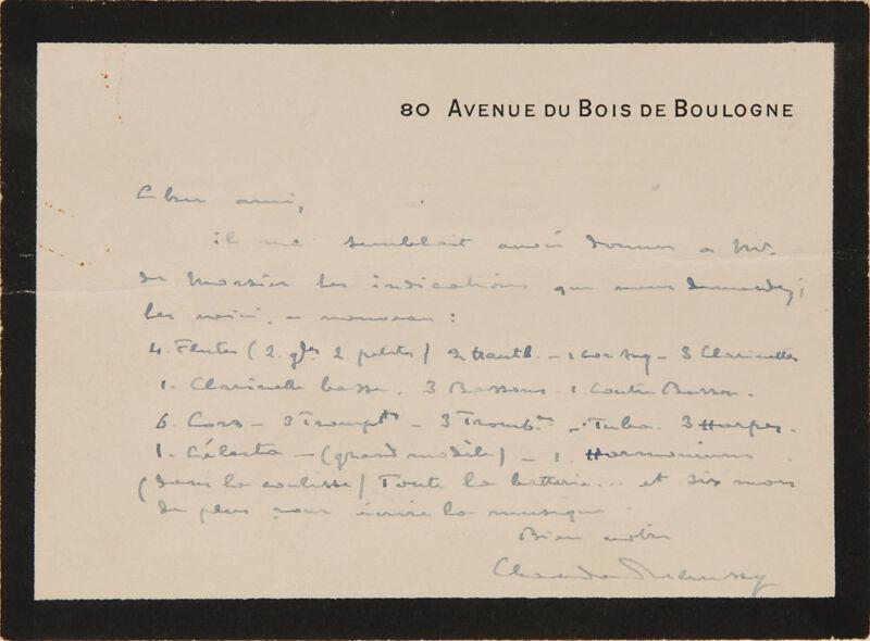 """Claude DEBUSSY (Composer): ALS about """"Le Martyre de Saint Sébastien"""""""