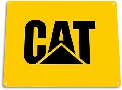 Catapillar CAT Tractors Garage Farm Equipment Tractor Metal Decor Sign