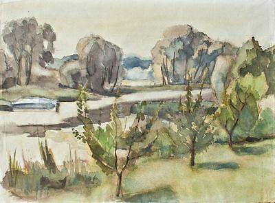 Sonja Wüsten - Alte Oder - Aquarell - 1976