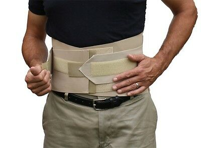 double pull lumbar sacral back support brace