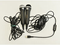 2 x usb microphone ROCK BAND / GUITAR HERO / logitech / redoctane / wii ps xbox