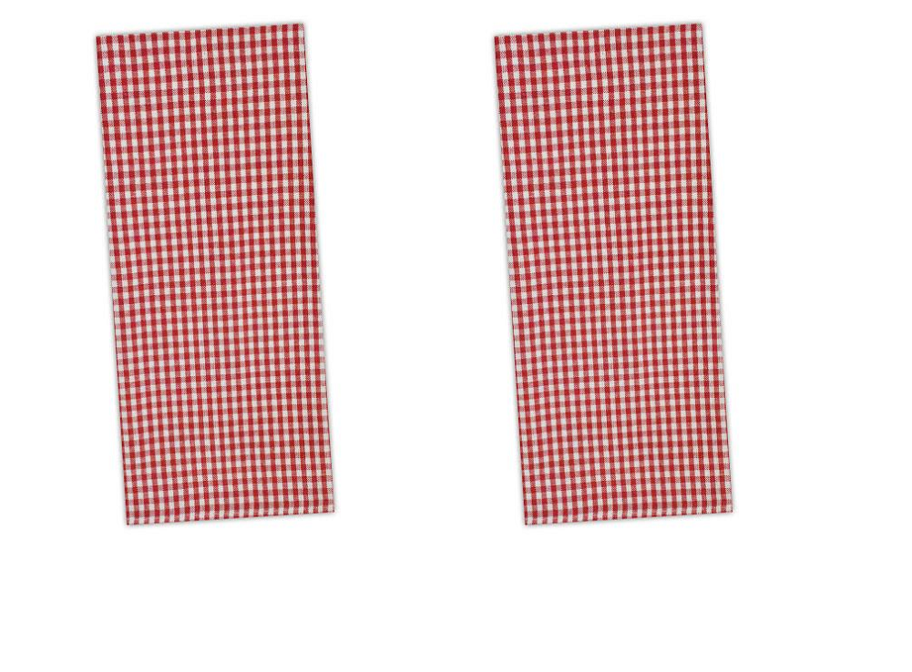 red white gingham check cotton